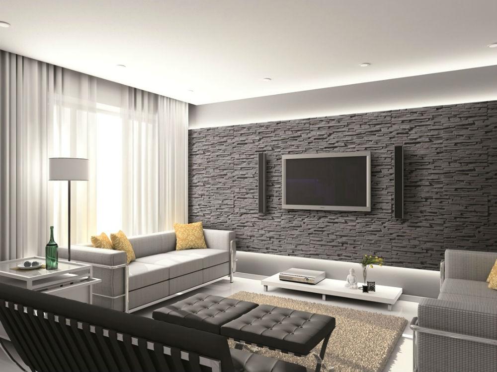 Pokoje z kamieniem dekoracyjnym