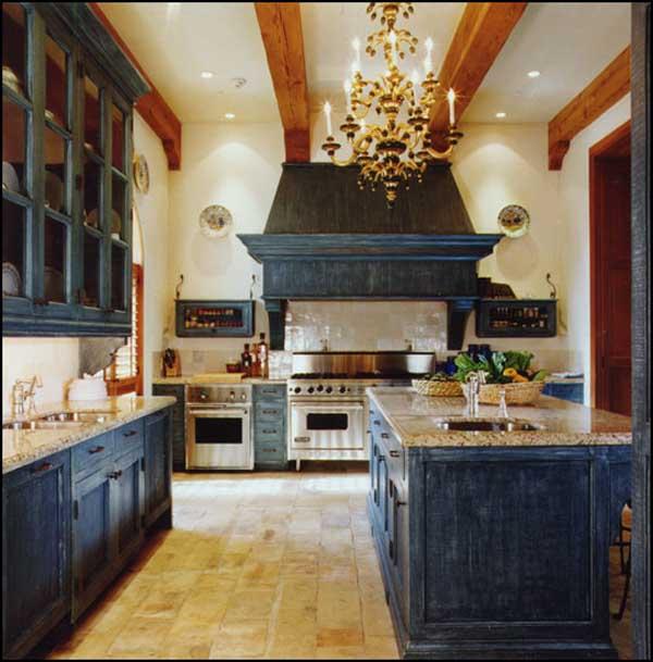 Niebieskie kuchnie. fot.: Hooken on House