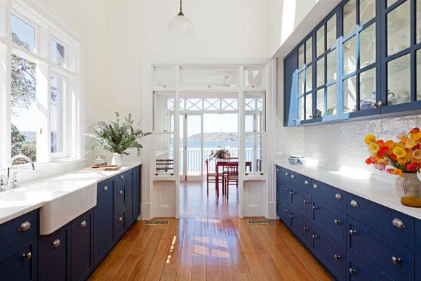 Niebieskie kuchnie. fot.: Pyke