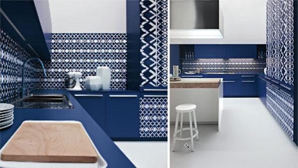 Niebieskie kuchnie. fot.: Elmar