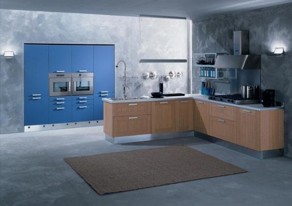 Niebieskie kuchnie. fot.: errebi.com