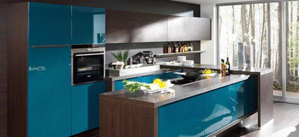 Niebieskie kuchnie. fot.: kbbc.co.uk