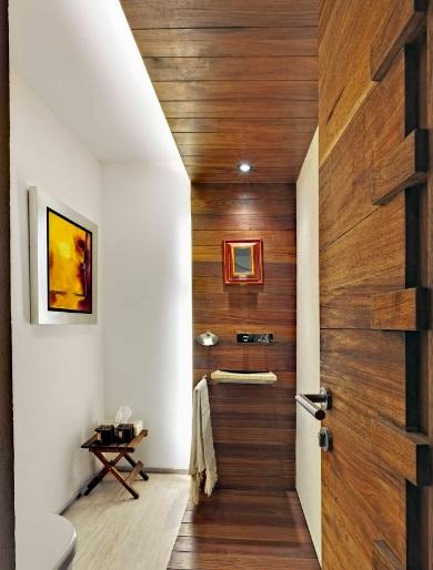 Wąska łazienka, fot.: Lopez Duplan Arquitectos