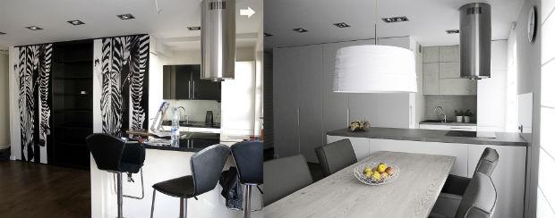 Jak w jednym pomieszczeniu urządzić cztery wnętrza? -> Kuchnia Jadalnia Salon Razem