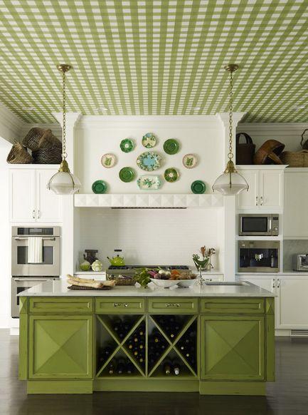 11 Pomys W Na Zielone Ciany W Kuchni