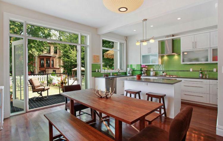 11 pomysłów na zielone ściany w kuchni