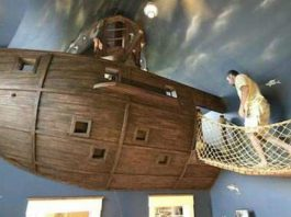 Sypialnia jak z bajki o piratach