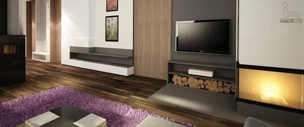 Apartament we fioletach - nowocześnie i glamour