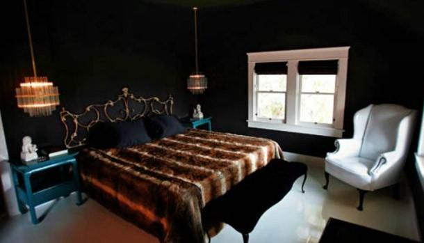Ciemne ściany W Sypialni Portal Wnętrzarski