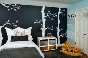Czarna ściana w pokoju dla dziecka, fot.: Inviec Interior Design