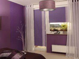 Lawendowy kolor w sypialni - doda energii we wnętrzu