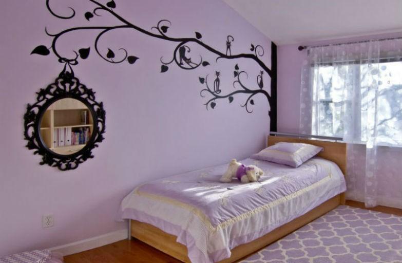 Pastelowy odcień fioletu w pokoju dziecka, fot.: Clever Home Design