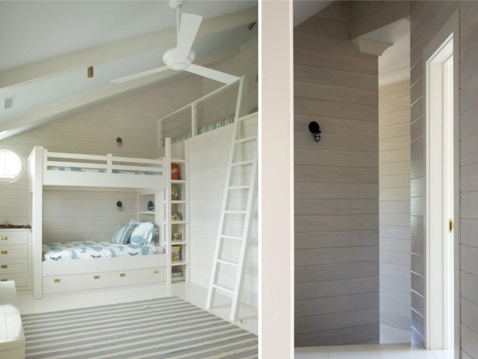 biały pokój dziecka z piętrowy łóżkiem; źródło: dobreprojekty-blog.blogspot.com
