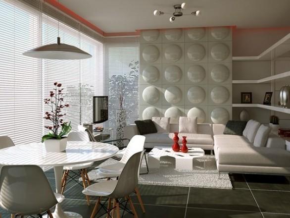 Biały salon, źródło: designmag.fr
