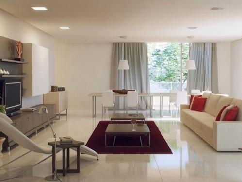 Biały salon z leżanką, źródło: designmag.fr