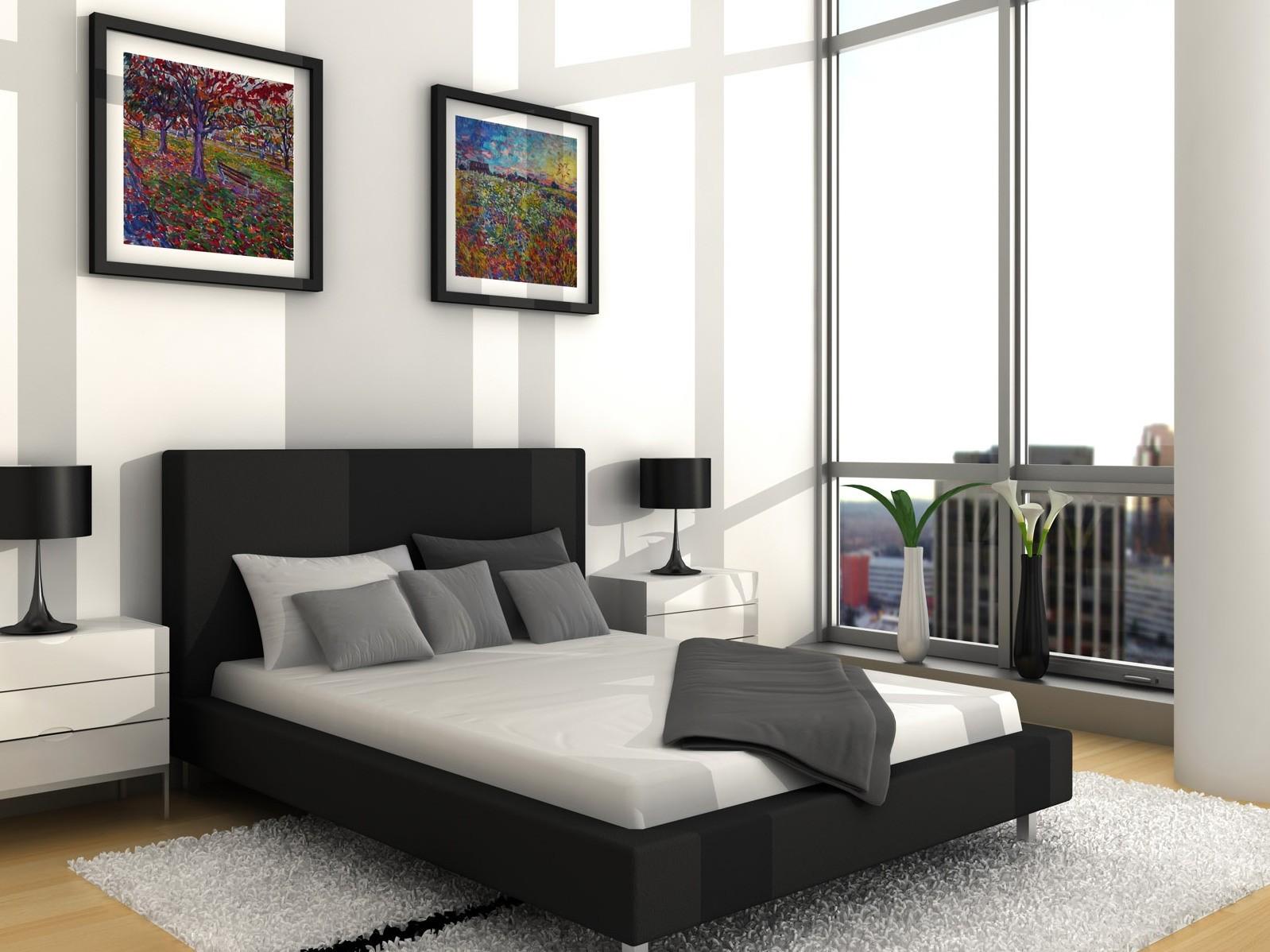 Biała sypialnia z obrazami, źródło: tot-tot.net