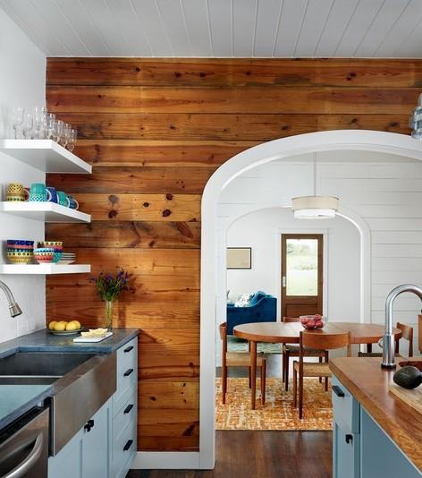 Drewno Na ścianie W Kuchni Portal Wnętrzarski