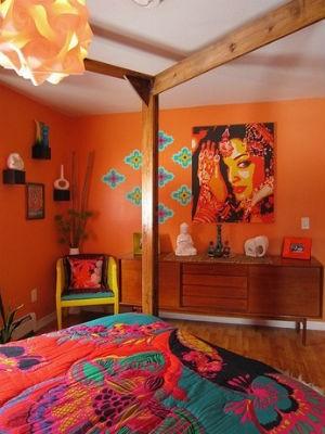Pomarańczowe ściany W Domu Wyzwania Zapewnione Portal