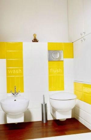 Żółte płytki w łazience, fot. Karl Jorgenson