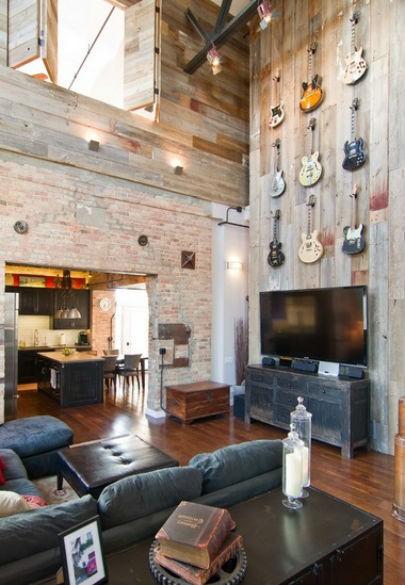drewniana ściana w salonie jak ją wykonać