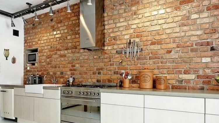 Cegła Na ścianie W Kuchni Zawsze Modna Portal Wnętrzarski