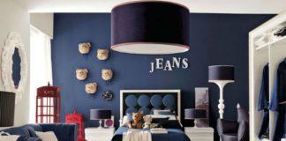 Niebieskie ściany w pokoju dziecka