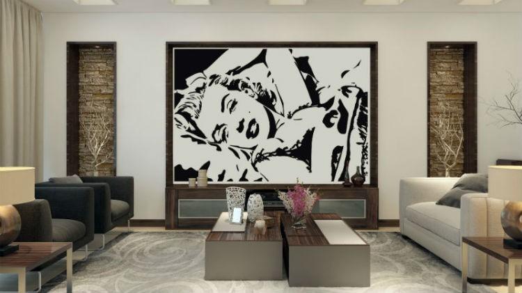 Naklejka Marlyn Monroe na ścianę, fot.: stylowenaklejki.pl