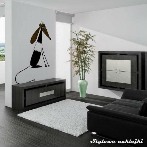 Naklejka pies na ścianę, fot.: stylowenaklejki.pl