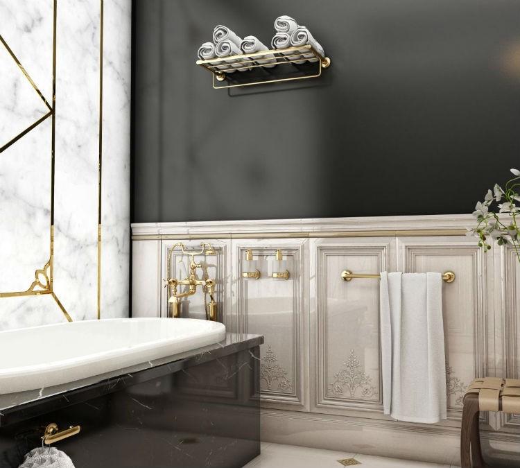 Tone Dodatki Do łazienki W Złotym Wykończeniu Portal