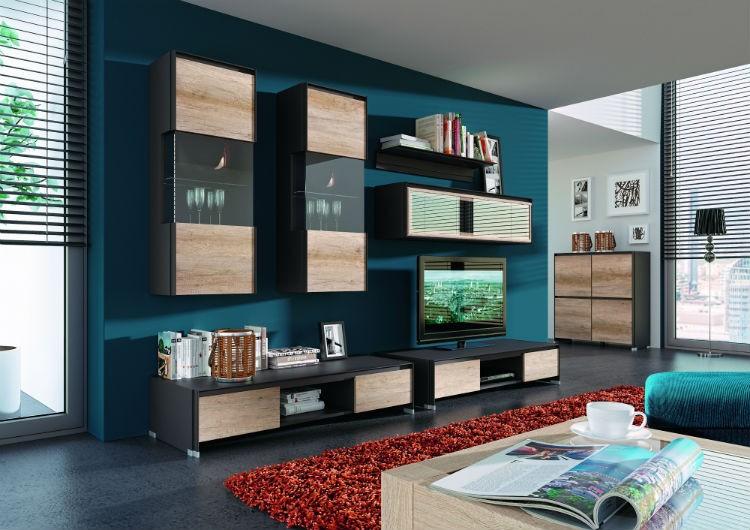 Meble W Kolorze Naturalnego Drewna Salon Portal Wnętrzarski