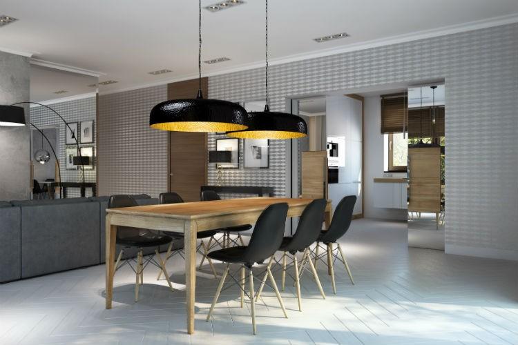 Stół dębowy AVANGARDE - współczesny design, wyjątkowa forma w niesymetrycznym podziale: idealny stół do nietuzinkowych wnętrz