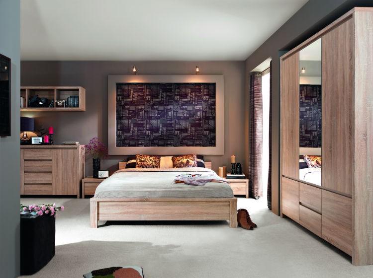 Meble W Kolorze Naturalnego Drewna Sypialnia I Pokój