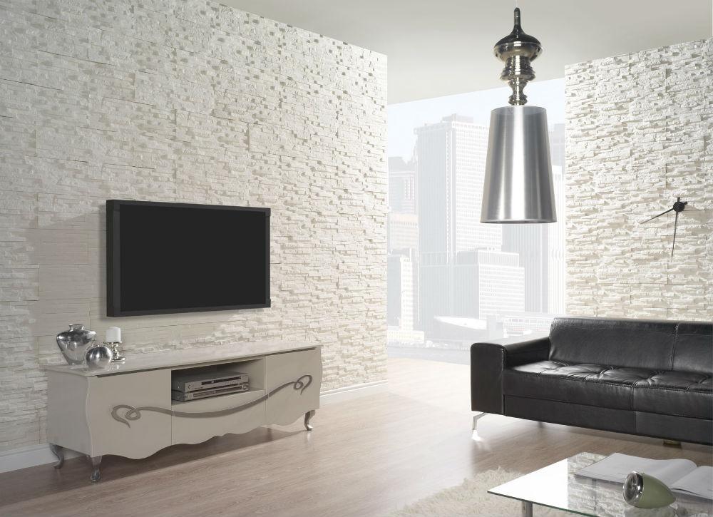 Kamień Na ścianę Za Telewizorem Doda Charakteru Twojemu Salonowi