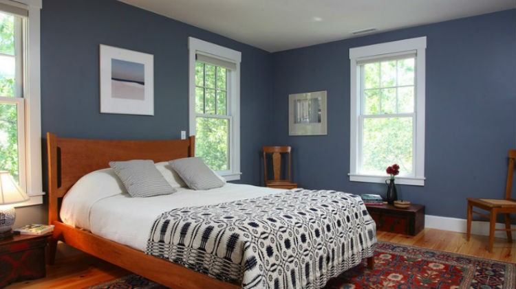 Niebieskie ściany W Sypialni Portal Wnętrzarski