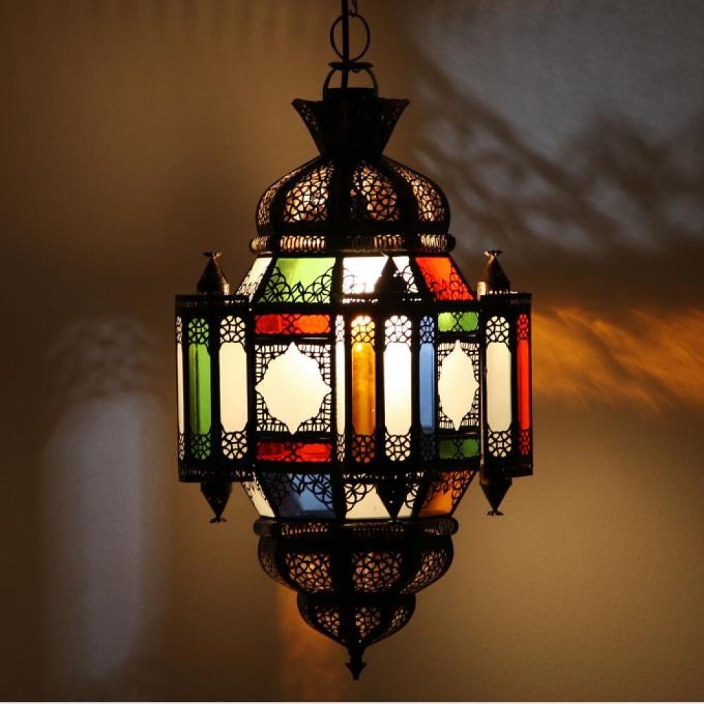 Marokańska lampa MOULA wielobarwna
