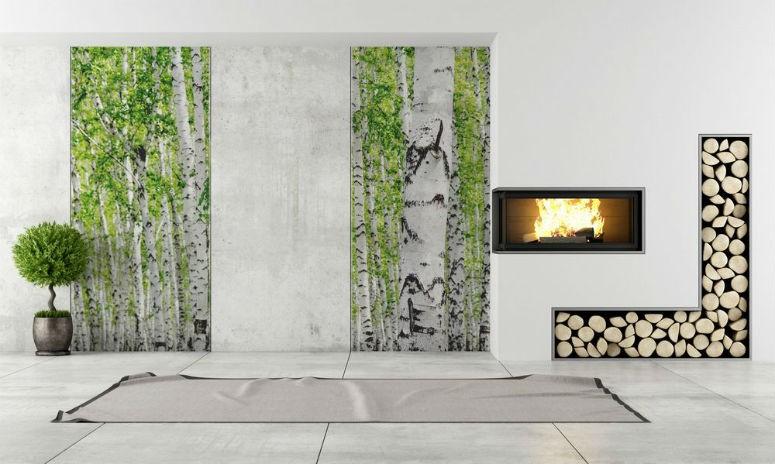 Pomysły Na Dekorację ściany W Salonie Fototapeta W Pokoju Dziennym
