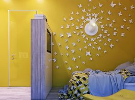 Ściana w pokoju dziecka