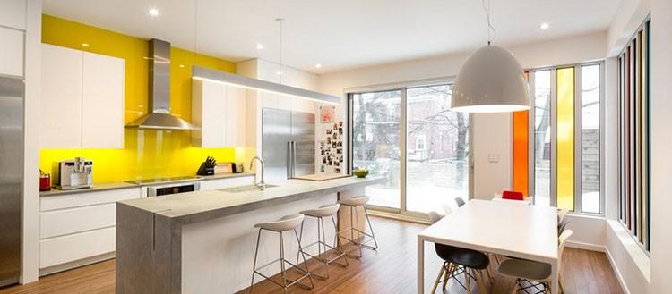 Żółta kuchnia - żółte panele do kuchni, fot.: Cine Box Studio