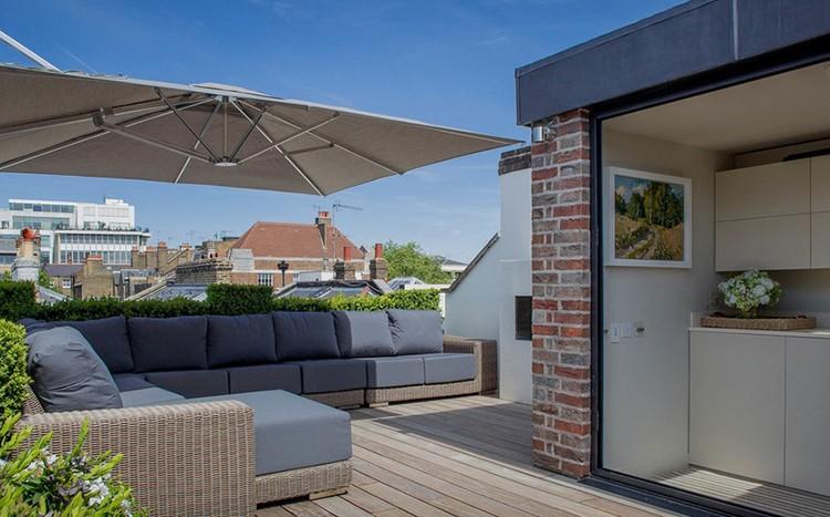 Taras na dachu, fot.: Nash Baker Architects