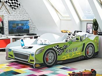 Łóżko do pokoju dziecka w kształcie samochodu