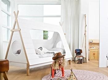 Łóżko do pokoju dziecka TIPI - Bear Linen