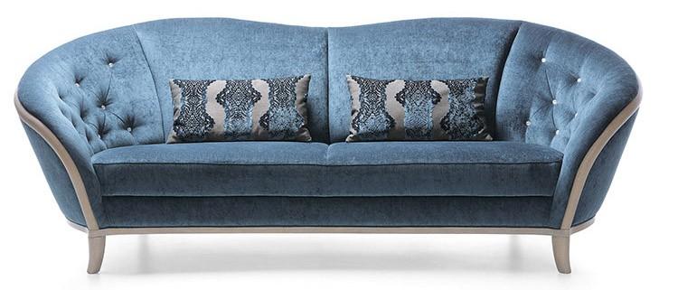 Niebieska sofa do salonu, fot.:Unimebel