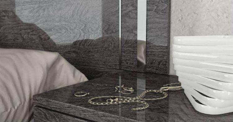 Szare odcienie sypialni Italian Style z kolekcji Sarah grey brich