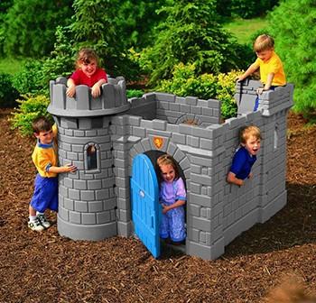 Zabawki ogrodowe - LT Klasyczny Zamek ze zjeżdżalnią