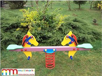 Zabawki ogrodowe - Bujak na sprężynie Koniki