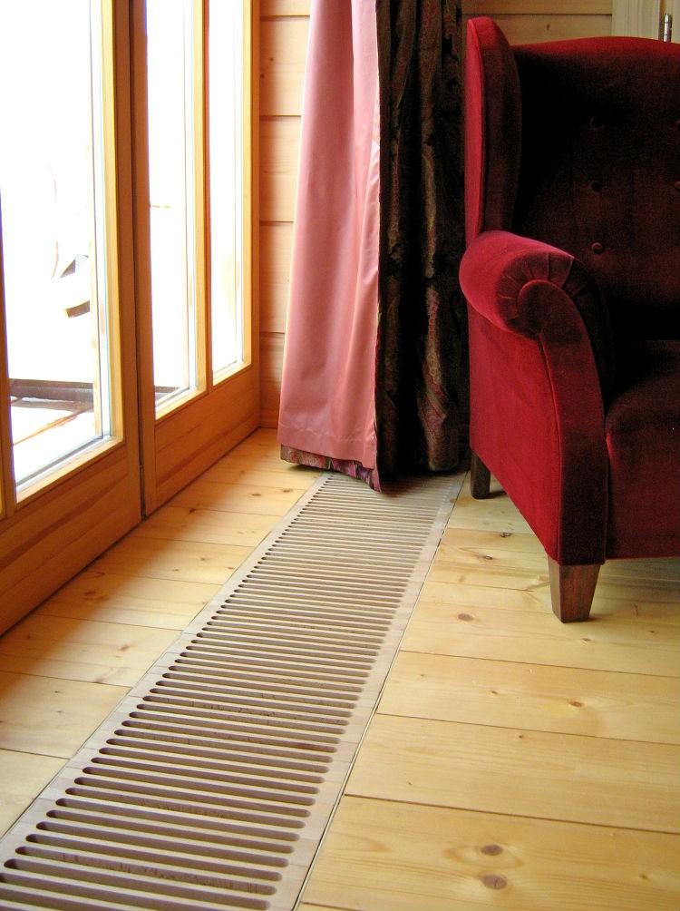 ogrzewanie kanałowe w salonie