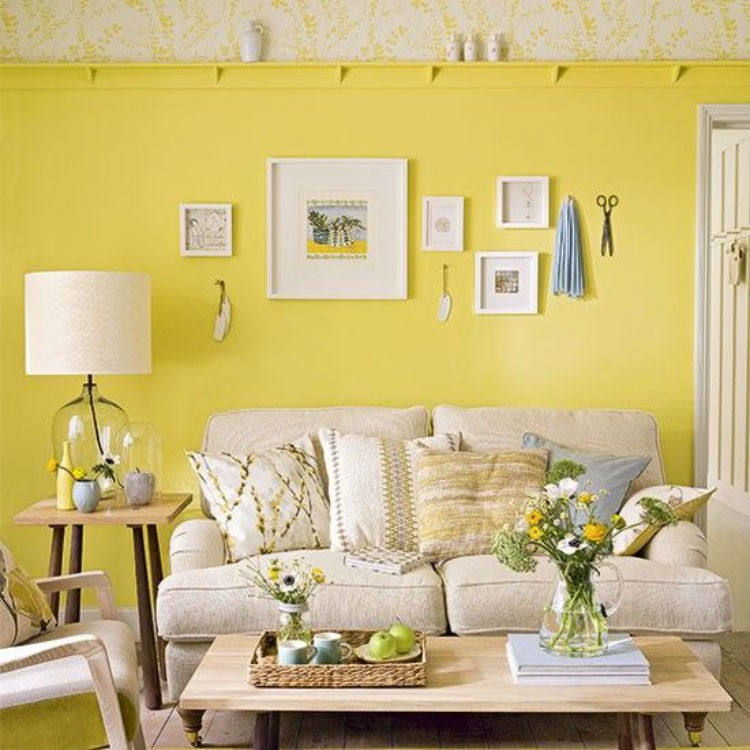 modne kolory wnetrz Primrose yellow