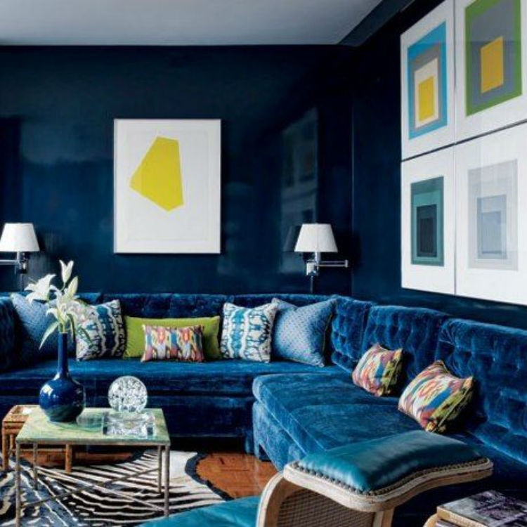 modny kolor we wnetrzu Lapis lazuli