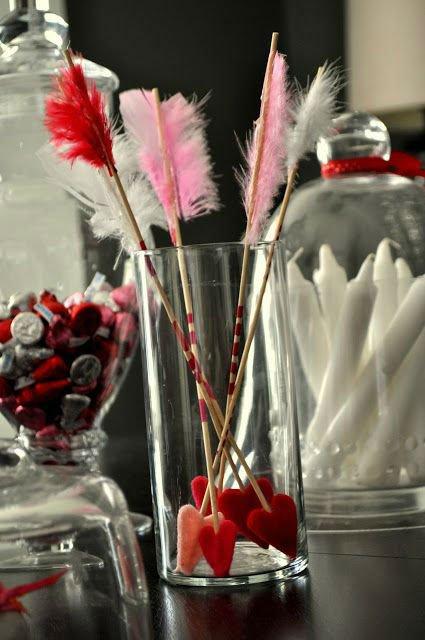 dekoracje walentynkowe na stół