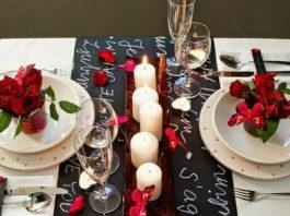 walentynkowe dekoracje stolu